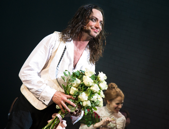 Constantine Maroulis is proud to return to Broadway.<br />(© David Gordon)