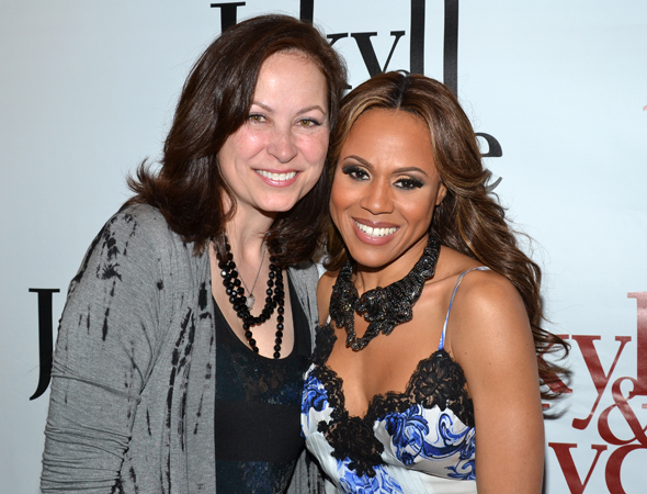 Linda Eder and Deborah Cox are honored to share a photo.<br />(© David Gordon)