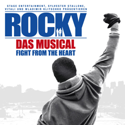 Artwork for the musical <i>Rocky</i>