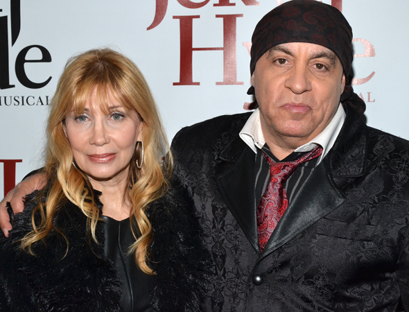 Maureen and Steven Van Zandt serve as producers of the new concert production <i>The Rascals: Once Upon a Dream</i>, playing down the street from the Marquis Theatre.<br />(© David Gordon)