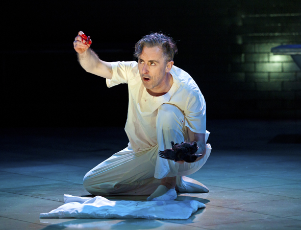 Alan Cumming performing one of <i>Macbeth</i>'s great speeches<br />© Jeremy Daniel