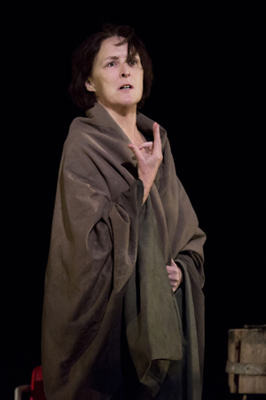 Fiona Shaw portrays the grieving Virgin Mary after her son's crucifixion<br />© Paul Kolnik
