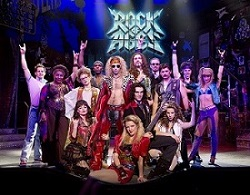 The current Broadway cast of <i>Rock of Ages</i>