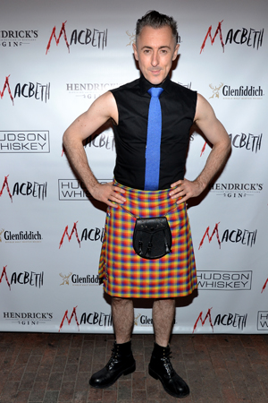 Alan Cumming rocks a kilt to honor the play and production's Scottish roots.<br />(© David Gordon)