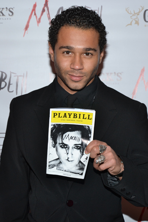 Corbin Bleu recently appeared as Jesus in the Broadway revival of <i>Godspell</i>, which was produced by <i>Macbeth</i>'s Ken Davenport.<br />(© David Gordon)