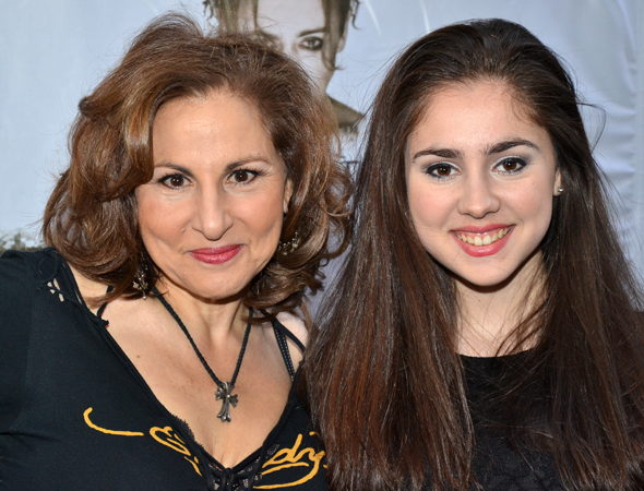 The <i>Macbeth</i> opening proves an ideal mother-daughter date for Kathy Najimy and Samia Finnerty.<br />(© David Gordon)
