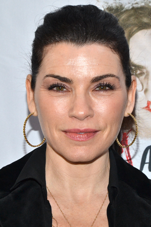 Julianna Margulies supports her <i>Good Wife</i> costar, Alan Cumming, on his opening night.<br />(© David Gordon)