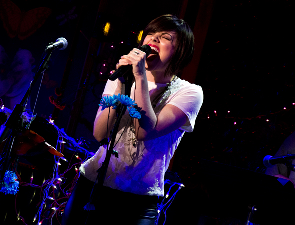 Krysta Rodriguez rocks out on
