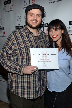 Daniel Everidge, nominated for his stunning performance as a severely autistic 18-year-old in <i>Falling</i>, shares a photo with his ladyfriend, actress Molly Hager.<br />(© David Gordon)