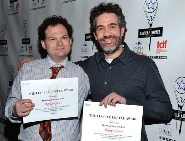 <i>Skippyjon Jones</i> writers Eli Bolin and Kevin Del Aguila are excited to share a nomination.<br />(© David Gordon)