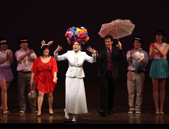 Ann Harada, Marin Mazzie, and Seth Rudetsky perform the opening number.<br />(© David Gordon)