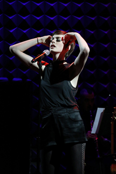 Anne Hathaway sings the role of Sally Bowles in her sold-out Joe's Pub concert, <i>Perfectly Marvelous: The Songs of <i>Cabaret</i></i>.