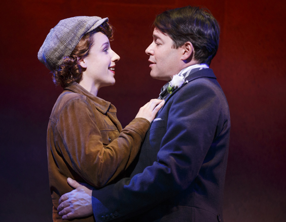 Jessie Mueller and Matthew Broderick in <i>Nice Work If You Can Get It</i>