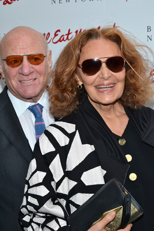 Barry Diller and Diane von Furstenberg show off their eyewear.<br />(© David Gordon)
