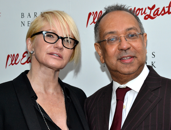 Tony Award winners Ellen Barkin and George C. Wolfe are ready to celebrate their <i>Normal Heart</i> pal, <i>I'll Eat You Last</i> director Joe Mantello.<br />(© David Gordon)