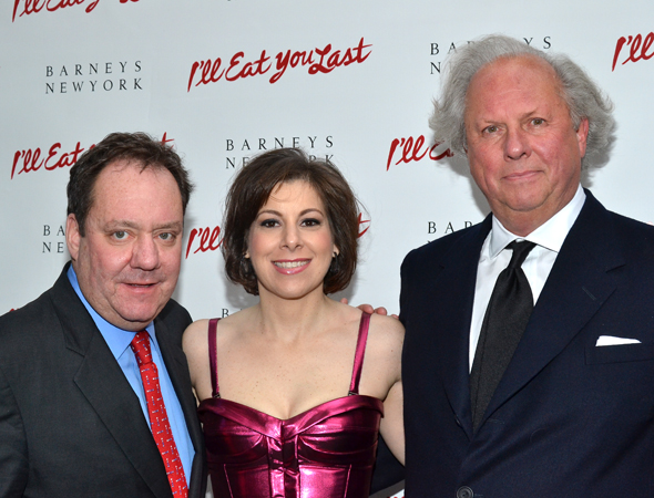 The <i>I'll Eat You Last</i> producing team: James L. Nederlander, Arielle Tepper Madover, and Graydon Carter.<br />(© David Gordon)
