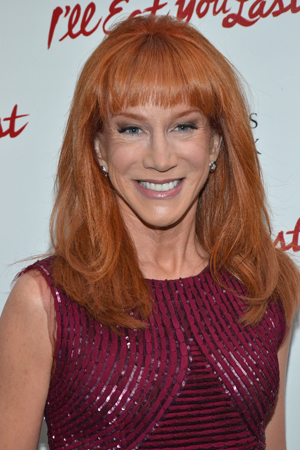 Comedienne Kathy Griffin is thrilled to cheer on Bette Midler, and her pal Sue Mengers, on Broadway.<br />(© David Gordon)