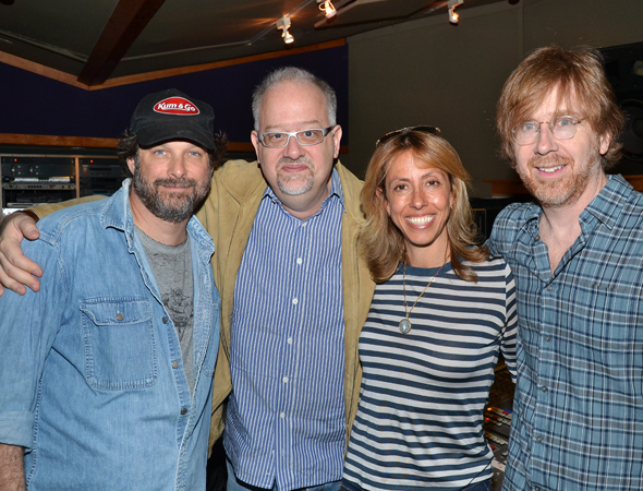 Record producer Kurt Deutsch and book  writer Doug Wright join Amanda and Trey for a quick snap.<br />(© David Gordon)