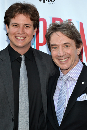 The Broadway opening night of their pal Andrea Martin is the ideal father-son date for Henry and Martin Short.<br />(© David Gordon)