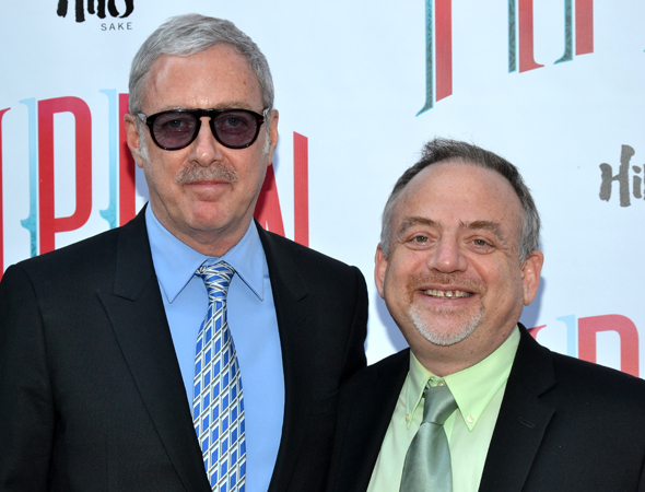 Scott Wittman and Marc Shaiman take a break from writing London's new musical, <i>Charlie and the Chocolate Factory</i>, to catch New York's latest Broadway show. <br />(© David Gordon)