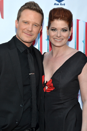 Will Chase and Debra Messing spend date night at <i>Pippin</i>.<br />(© David Gordon)