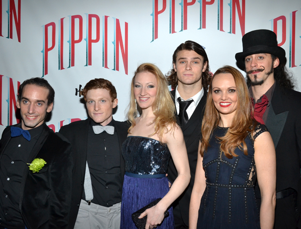 Grégory Arsenal, Philip Rosenberg, Molly Tynes, Orion Griffiths, Sabrina Harper, and Yannick Thomas are proud members of the <i>Pippin</i> ensemble.<br />(© David Gordon)