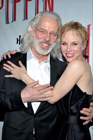 A married couple onstage and off, Terrence Mann and Charlotte d'Amboise get close for the cameras.<br />(© David Gordon)