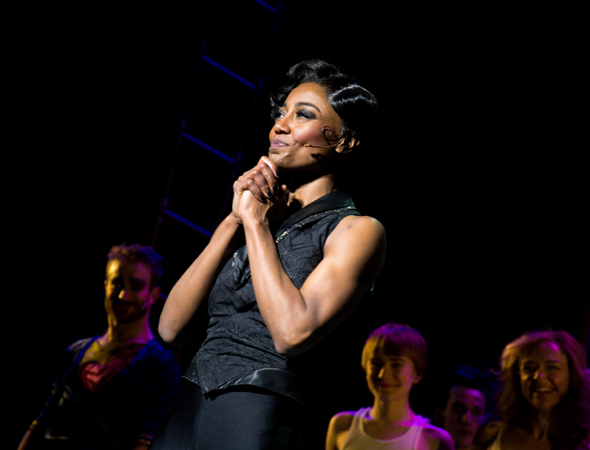 Patina Miller is overcome with emotion.<br />(© David Gordon)