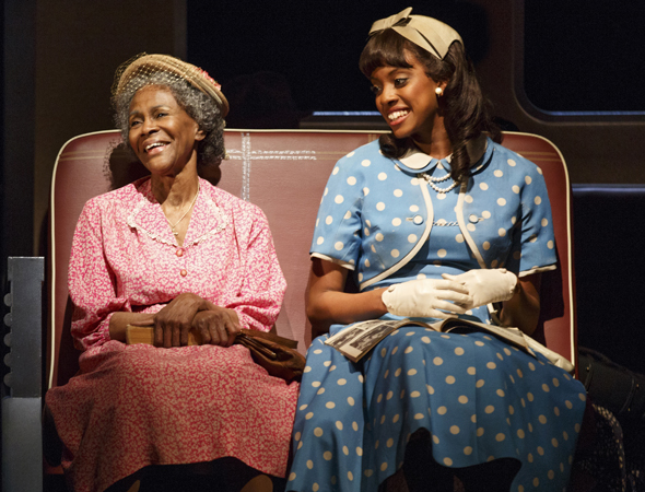 Cicely Tyson and Condola Rashad costar in Horton Foote's <i>The Trip to Bountiful</i>, which arrived on Broadway at the Stephen Sondheim Theatre on April 23, 2013, under Michael Wilson's direction. The production also featured Vanessa Williams, Cuba Gooding Jr., and Tom Wopat.<br />(© Joan Marcus)