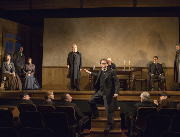 Boyd Gaines and Richard Thomas led the company of Manhattan Theatre Club's revival of Ibsen's <i>An Enemy of the People</i>, which opened their season at the Samuel J. Friedman Theatre on September 27 and was directed by Doug Hughes.<br />(© Joan Marcus)