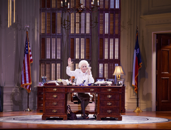 Holland Taylor stars as former Texas Governor Ann Richards in her one-woman show, <i>Ann</i>, which opened at the Vivian Beaumont Theatre on March 7, directed by Benjamin Endsley Klein.<br />(© Ave Bonar)