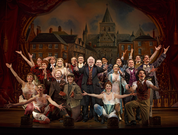 Roundabout Theatre Company opened Scott Ellis' revival of Rupert Holmes' musical <i>The Mystery of Edwin Drood</i> at Studio 54 on November 13. The cast featured Stephanie J. Block, Jim Norton, Will Chase, Chita Rivera, Andy Karl, Betsy Wolfe, Jessie Mueller, and Gregg Edelman.<br />(© Joan Marcus)
