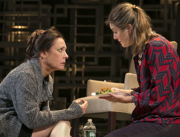 Laurie Metcalf starred opposite her daughter, Zoe Perry, in Manhattan Theatre Club's Broadway transfer of Sharr White's <i>The Other Place</i>, which Joe Mantello directed at the Samuel J. Friedman Theatre, opening on January 10. The cast also included Daniel Stern (who was later replaced by Bill Pullman) and John Schiappa.<br />(© Joan Marcus)
