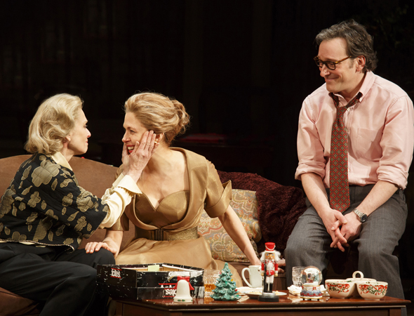 Judith Light, Jessica Hecht, and Jeremy Shamos lead the cast of Richard Greenberg's time-spanning drama <i>The Assembled Parties</i>, which opened at Manhattan Theatre Club's Samuel J. Friedman Theatre on April 17 under Lynne Meadow's direction.<br />(© Joan Marcus)