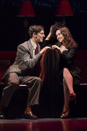Cory Michael Smith and Emilia Clarke led the cast of Sean Mathias' stage production of Truman Capote's <i>Breakfast at Tiffany</i>, which opened at the Cort Theatre on March 20.<br />(© Nathan Johnson)