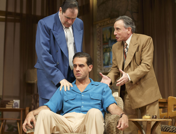 Bobby Cannavale, Richard Kind, and Chip Zien are among the stars of Roundabout Theatre Company's revival of Clifford Odets' <i>The Big Knife</i>, which Doug Hughes directs at the American Airlines Theatre and opened on April 16.<br />(© Joan Marcus)