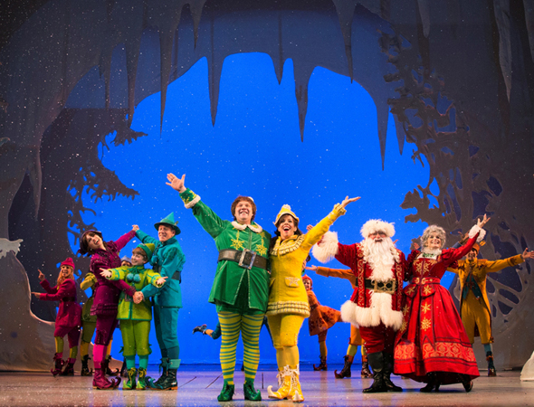 The holiday musical <i>Elf</i> returned to Broadway on November 9 for a Christmastime run at the Al Hirschfeld Theatre.<br />(© Joan Marcus)