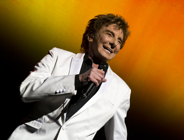 Music icon Barry Manilow played a multi-extended engagement at the St. James Theatre, which opened on January 29.<br />(© David Gordon)