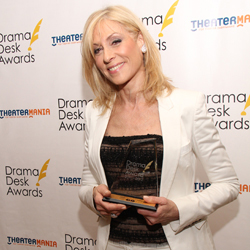 Judith Light with her Drama Desk Award