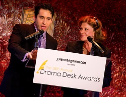 John Lloyd Young and Linda Lavin announce the 2012-2013 Drama Desk Awards at 54 Below.