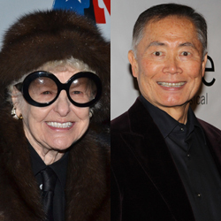 Elaine Stritch and George Takei