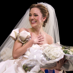 2013 Tony Award nominee Laura Osnes takes her curtain call on opening night of <i>Cinderella</i>.