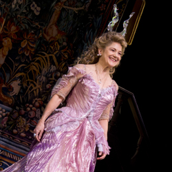 Victoria Clark takes her curtain call on the opening night of <i>Cinderella</i>.