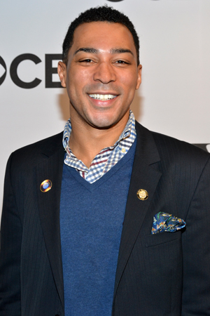 "<i>Motown</i> Featured Actor nominee Charl Brown admitted to ""tossing and turning all night,"" followed by running around his apartment with joy when he heard his name called.<br />(© David Gordon)"