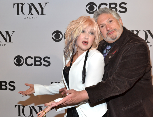 Cyndi Lauper and Harvey Fierstein are the proud, nominated creators of <i>Kinky Boots</i>.<br />(© David Gordon)