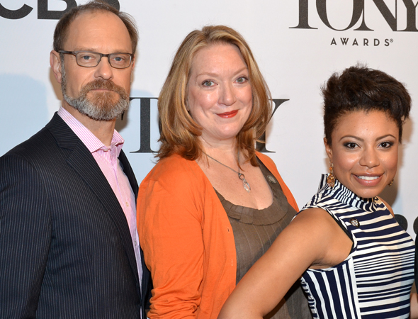 David Hyde Pierce, Kristine Nielsen, and Shalita Grant are among the happy family of nominees from <i>Vanya and Sonia and Masha and Spike</i>.<br />(© David Gordon)