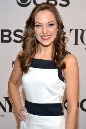 """I was kneeling on the bed crying,"" said Laura Osnes, who received her second consecutive Best Actress in a Musical nomination this year for <i>Cinderella</i>.<br />(© David Gordon)"
