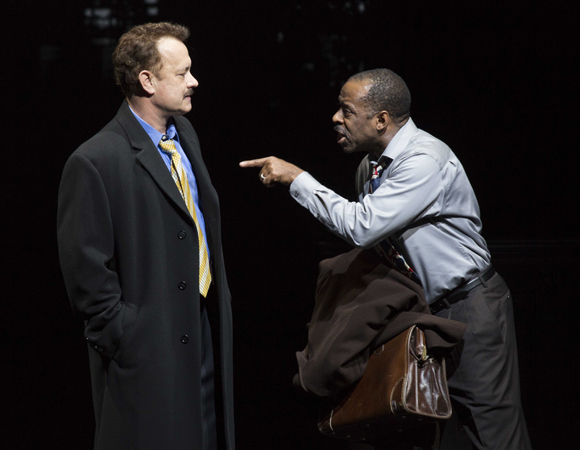 Tom Hanks and Courtney B. Vance in <i>Lucky Guy</i>