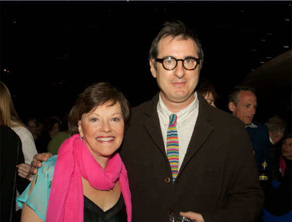 Helen Carey and playwright Jon Robin Baitz smile for the camera.<br />(© Jon Harvey)