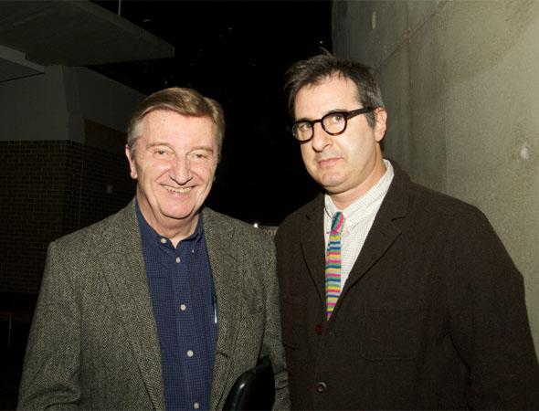 Cast member Larry Bryggman with Jon Robin Baitz.<br />(© Jon Harvey)
